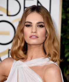 Image result for lily james hair