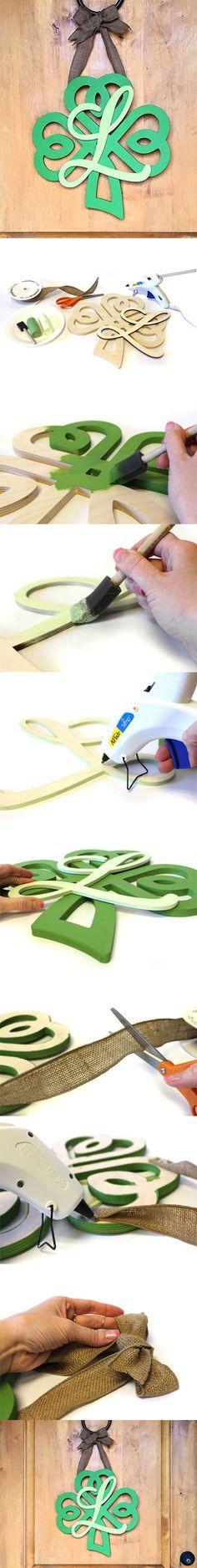 Create a Shamrock Monogram Wreath | St. Patrick's Day Wreath | CraftCuts.com