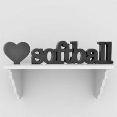 Love Softball SportWORDS | Decorative Softball Words