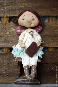 Collectible handmade dolls.  Fair Masters - handmade girls pripevochka.  Handmade.