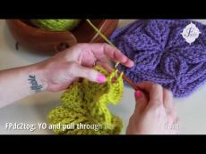 Crochet Basics: Front Post DC 2 together in 60 seconds. And important variation of an intermediate crochet stitch: Front Post Double Crochet 2 together. Trisha Kahan walks you through the simple steps to perfect this stitch and add incredible Crochet Basics, Crochet Stitches, Crochet Patterns, Crochet Flower Tutorial, Crochet Flowers, Crochet Tutorials, Front Post Double Crochet, Pull Through, Crochet Videos