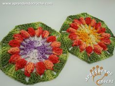 Flor de Crochê Pipoca - Flores e Motivos - Aprendendo Croche