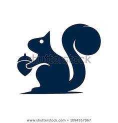 Graphisches Design, Logo Design, Squirrel Silhouette, Book Folding, Squirrels, Logos, Jeeps, Rats, Illustration