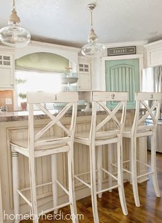 6th Street Design School: Feature Friday: I like the painted door in the kitchen, what a good idea to bring color in.