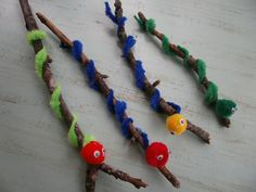 Worm themed ideas.... I particularly like these twig worms- cute and sure to be fun!