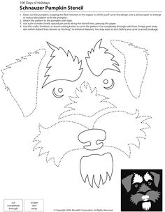 Schnauzer Pumpkin Stencil by Mutt-Uglies: Schnauzer Pumpkin Stencil also great template for sewing schnauzer and terrier mix stained glass pattern This is for a pumpkin stencil but I am thinking I can use it for a quilt applique pattern. Dog Stencil, Pumpkin Stencil, Stencils, Schnauzer Art, Miniature Schnauzer Puppies, Schnauzers, Applique Patterns, Quilt Patterns, Sewing Patterns