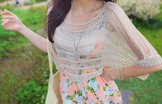 I love love love this dress with shawl! Floral Dress Outfits, Cute Floral Dresses, Cute Summer Dresses, Fashion Dresses, Floral Sundress, Summer Clothes, Dress With Shawl, Casual Outfits, Cute Outfits