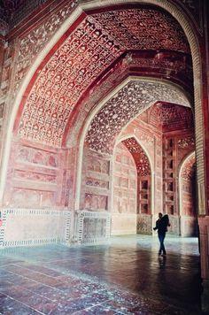 Interior of the Taj Mahal, Agra, India                              …