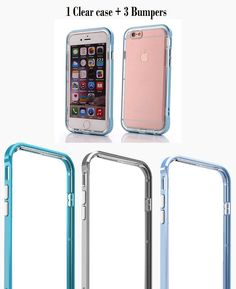 iPhone 6 / iPhone 6 s Case / Bumper Case / Dual Layer Case PC Bumper and Scratch Resistant Crystal Clear Back Case (Blue/Teal/Black). Covers all four corners and includes raised edges and a TPU lip to keep the screen and camera from scratching or touching the ground. This case allows access to all buttons, the camera and flash, speakers, and has generously-sized cutouts for the headphone and charging/syncing port. Two layers and two different types of polymer armor: an inner layer of...