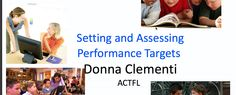 Setting and Assessing Performance Targets