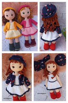 Amigurumi Baker Lily Doll Free Pattern Amigurumi Doll, Amigurumi Patterns, Crochet Patterns, Red Lily, Ch 5, Hello Dear, Doll Head, Stitch Markers, Crochet Hooks