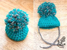 Super Easy Crochet Hat with Giant PomPom