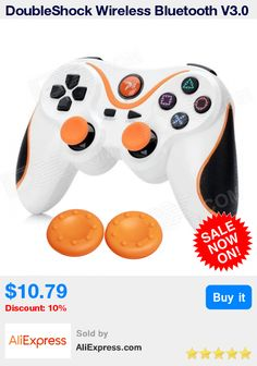 DoubleShock Wireless Bluetooth V3.0 Controller Sixaxis Joypad Gamepad +Joystick Silicone Caps For Sony PS3 Console * Pub Date: 04:34 Apr 13 2017
