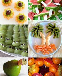 Aan de reacties op de  Facebook page  te zien, is er veel interesse in leuke en gezonde traktaties. Daarom daarover nu een blog. Maar omdat ... Cute Snacks, Good Food, Yummy Food, Colorful Fruit, Happy Foods, Food Humor, Kids Nutrition, Appetizers For Party, Healthy Treats