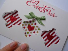 Stampin' Up! Christmas Ornament Punch #christmascard
