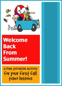 A free printable activity you can use to welcome your piano students back after summer holidays #PianoPrintable #freebie #FallPianoLessons