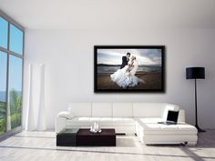 Свадебная фотография на холсте - оригинально украсит интерьер любой комнаты!