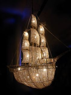 chandelier by Rock and Royal. This is so cool! Beautiful for a future nursery or even my closet!