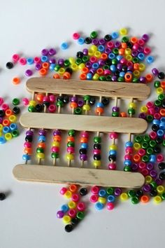 Make an Abacus! - http://kidsactivitiesblog.com/46083/make-an-abacus