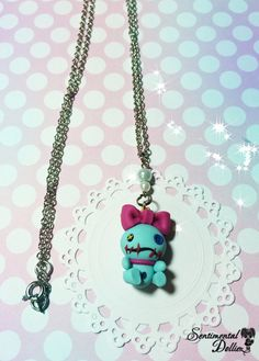 Kawaii Polymer Clay Necklace Scrump Jewelry by SentimentalDollieZ, $15.00