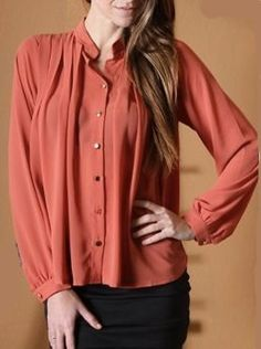Rust Colored Blouse with Buttons - $27.74 : FashionCupcake, Designer Clothing, Accessories, and Gifts