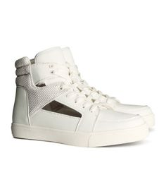 H&M | High Tops ($29.95) #Coveted #WhiteHighTops #HM