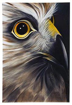 Hawk, Medium Art Block - Robyn Forbes http://www.shopnewzealand.co.nz/en/cp/Hawk_Print