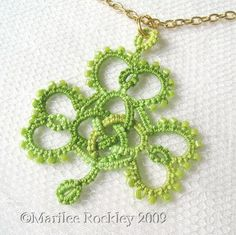 Tatted Celtic shamrock.  I would love to have this crocheted for me.