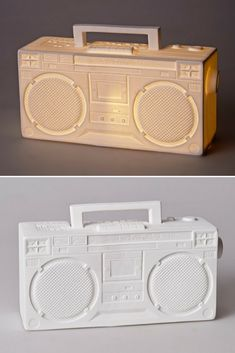 Nice Ghetto Blaster lamp, ideal for rehearing your old pieces of hip hop ! #concept #lamp #lighting #lightingdesign #tablelamp