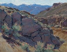 Gully Rocks by Jean LeGassick Oil ~ 8 x 10