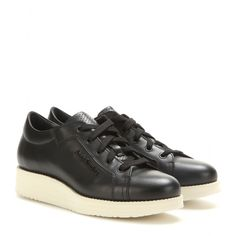 Acne Studios - Kobe leather sneakers - Get your chic on in the 'Kobe' sneaker from Acne Studios. The lace-up design incorporates a perforated leather tongue and discrete branding on the side, plus a cool platform sole that locks in the retro vibe. Style with smart trousers or casual denim. seen @ www.mytheresa.com