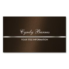 Brown Shimmer with Silver Business Card