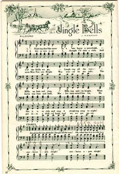 Christmas sheet music as Christmas decorationsJingle Bells . Christmas sheet music as Christmas decorations Christmas Sheet Music, Noel Christmas, Christmas Projects, Winter Christmas, Xmas Music, Christmas Ideas, Free Christmas Music, Printable Christmas Decorations, Victorian Christmas Decorations