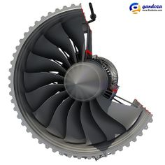 Rolls-Royce Trent 1000 Turbofan Engine Cutaway