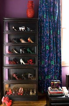 ✔️ 87 Cool, clever shoe storage ideas for small spaces are on the right track … - small living room furniture Bookcase Closet, Barrister Bookcase, Old Bookcase, Bookcase Storage, Shoe Storage, Storage Ideas, Bookshelves, Shelving, Dressing Room Closet