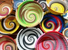 New! Metalic telephone cables baskets, hand made in South Africa, fairtrade