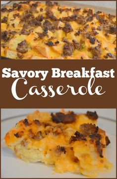 If you're looking for a savory breakfast casserole to serve Christmas morning, or all year long, look no further! Make with sausage, bacon or ham.