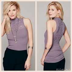 Free People Sweetheart Cami - Graphite Never worn without tags. Super flirty and cute top!!! Free People Tops Tank Tops