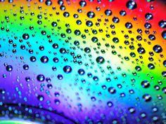 colors | Des: Download Cool HD rainbow colors, rain drops ball background ...