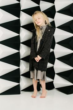Soft layers from a forest inspired collection by Paade Mode for girlswear