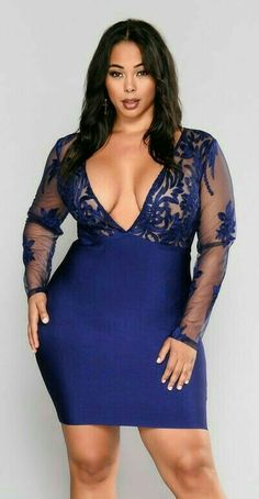 """""""Never turn down my man by wearing this! Plus Size Looks, Plus Size Model, Curvey Women, Sexy Women, Curvy Women Fashion, Plus Size Fashion, Plus Size Dresses, Plus Size Outfits, Full Figure Fashion"""