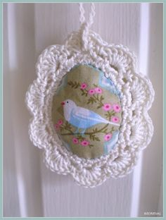 Easter Egg fabric with crochet edge