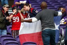 Texans vs. Vikings:  October 9, 2016  -  31-13, Vikings.      Houston Texans fans take photos while watching warm ups before an NFL football game against the Minnesota Vikings at U.S. Bank Stadium on Sunday, Oct. 9, 2016, in {city. Photo: Brett Coomer, Houston Chronicle / © 2016 Houston Chronicle