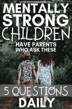 Emotionally Healthy Kids Have Parents Who Ask These 5 Questions Daily- Word From The Bird Mentally strong kids have parents Gentle Parenting, Parenting Advice, Peaceful Parenting, Parenting Styles, Parenting Courses, Parenting Websites, Practical Parenting, Natural Parenting, Parenting Humor