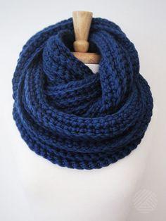 CROCHET INFINITY SCARF Knit Eternity Scarf Chunky by DeBrosseNYC
