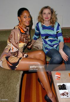 Tracee Ellis Ross and Julie Delpy during Limited Edition Champagne Veuve Clicquot Dressed by Emilio Pucci Party at Private Residence in Los Angeles, California, United States.