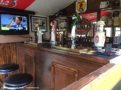 The Mount Nod -Pub/Entertainment from West Midlands owned by Mick F Man Shed Interior Ideas, Pub Interior, Garage Pub, Party Shed, Garden Bar Shed, Shed Of The Year, Pub Sheds, Home Pub, Mancave Ideas