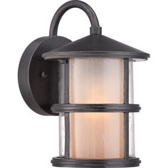 """View the Miseno MLIT0693A 10"""" Tall Single-Light Outdoor Wall Sconce with Clear Lantern Shade at LightingDirect.com."""
