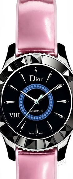 The Dior VIII ceramic with pink leather WATCH   LBV S14 ♥✤