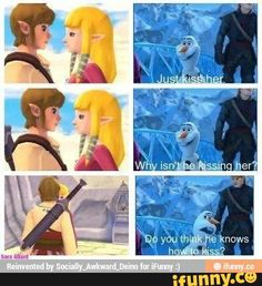 YEAH LINK, WHY AREN'T YOU KISSING HER <<< J U S T D O I T